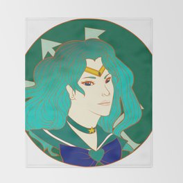 Sailor Neptune Throw Blanket