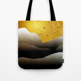 Sunrise Mountain Landscape Tote Bag