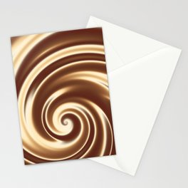 Chocolate milk cocktail spiral Stationery Cards