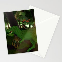 3 Mischievous Dinosaurs Stationery Cards