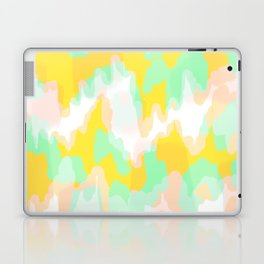 Lara - Chartreuse and mint abstract art Laptop & iPad Skin