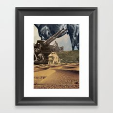 House In Desert Framed Art Print
