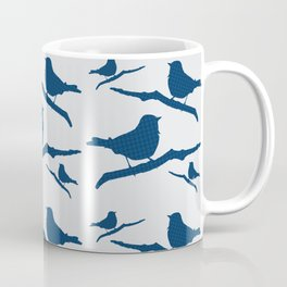 Blue Silhouette Bird Coffee Mug
