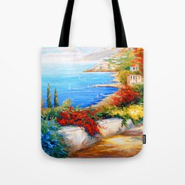 Bright day by the sea Tote Bag
