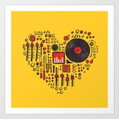 Music in every heartbeat Art Print