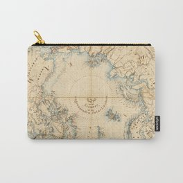 Map of the Arctic and Adjacent Regions (1855) Carry-All Pouch