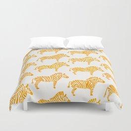 Zebras – Yellow Palette Duvet Cover