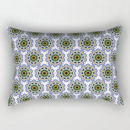 Mandala Colored Flower Rectangular Pillow