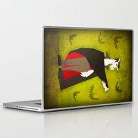 dracula Laptop & iPad Skins featuring Dracula Unicorn by That's So Unicorny