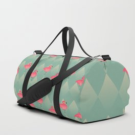 Sugar Flamingo Pattern Duffle Bag