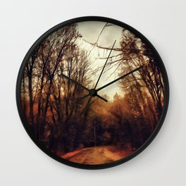 Highway on Fire Wall Clock