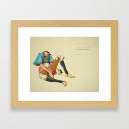 When I Was Little, My Father Was Famous. (Spread) Framed Art Print