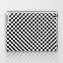 black and white simple modernist pattern Laptop & iPad Skin