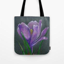 SIngle crocus flower sketch  hand drawing Tote Bag