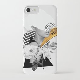 collage art (girl) iPhone Case