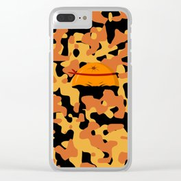 Military Orange Clear iPhone Case
