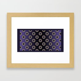 Purple Dream Towels Framed Art Print