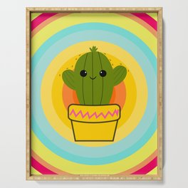 Cute cactus Serving Tray