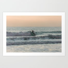 Lazy waves, 2018 Art Print