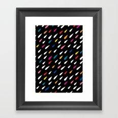 Bright Droplets Framed Art Print