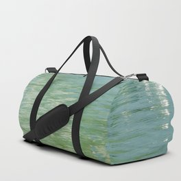 Aqua Abstract Flow Duffle Bag