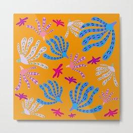 Coral Life - Lively Orange Metal Print