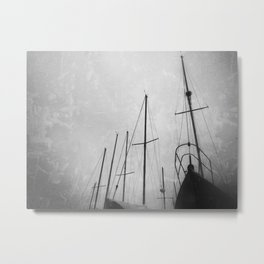 ships in the night. Metal Print