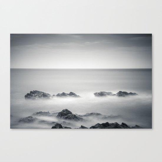 Silver sea Canvas Print