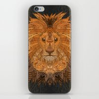 the lion king iPhone & iPod Skins featuring King Lion by ArtLovePassion