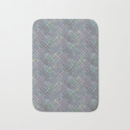 Gray checkered pattern. Bath Mat