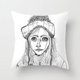 Snow Sleet Sad Throw Pillow