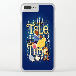 Tale as old as time Clear iPhone Case