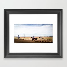 Country Racing Framed Art Print