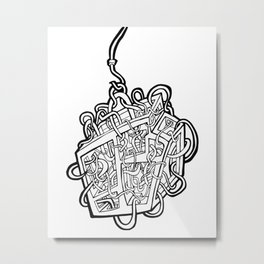 Tangled Box Metal Print