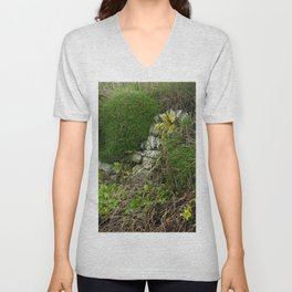 Wall at Church Cove Unisex V-Neck