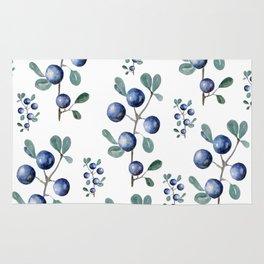 Blackthorn Blue Berries Rug