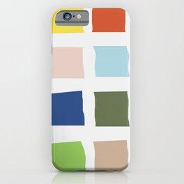 Color palette sun time iPhone Case