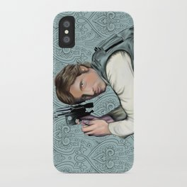 Han Solo StarWars Movie Poster Print iPhone Case