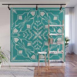 Turquoise Batik Wall Mural