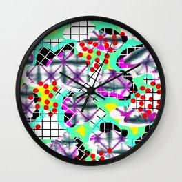 Shibori Dream Wall Clock