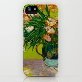Oleanders Vincent van Gogh Oil On Canvas Floral Still Life Painting iPhone Case