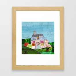 Patchwork Home Framed Art Print