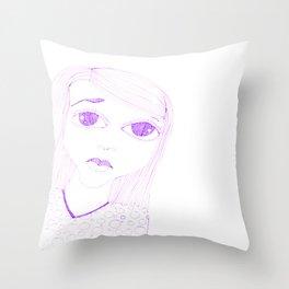 purple sadness1 Throw Pillow