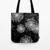 dandelion Tote Bags featuring DANDELIOn by Monika Strigel
