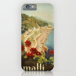 Vintage Travel Ad Amalfi Italy iPhone Case
