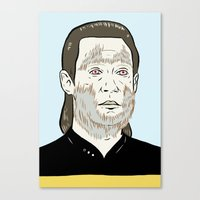 data Canvas Prints featuring Data Wolf by Mike Force