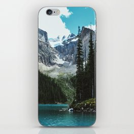 Canoeing in Moraine lake iPhone Skin