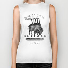 BUFFALO FACTORY Buffalo with smokestacks Biker Tank