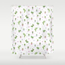 Cacti Party Shower Curtain