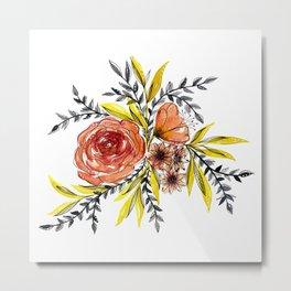Floral watercolor Metal Print